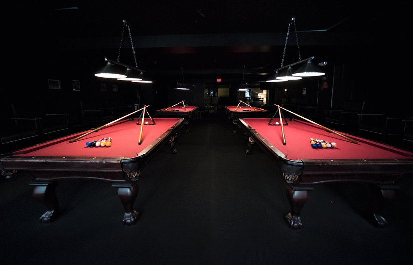Pool tables for your guests at Scholars Bistro & Cocktail Lounge, Boston, MA