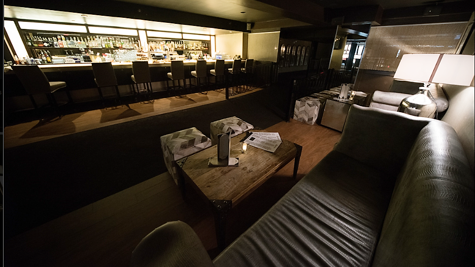 Sophisticated seating in our Boston-based event venue, Scholars Bistro & Cocktail Lounge