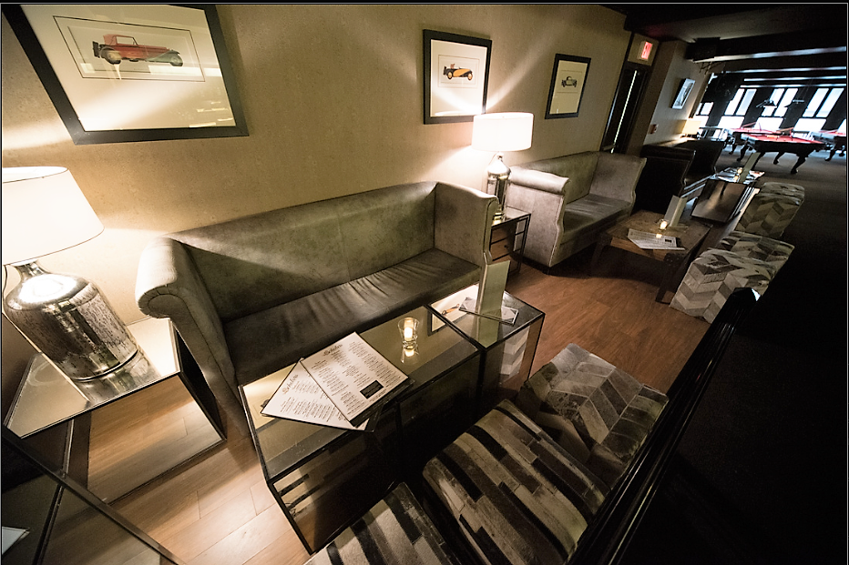 A nook for party guests at event venue, Scholars Bistro & Cocktail Lounge