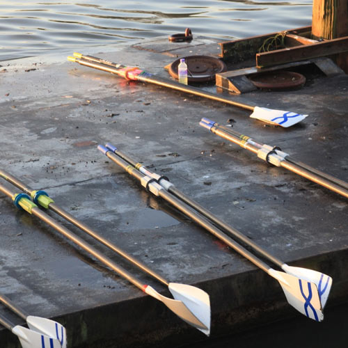 Oars on the Tideway pontoon