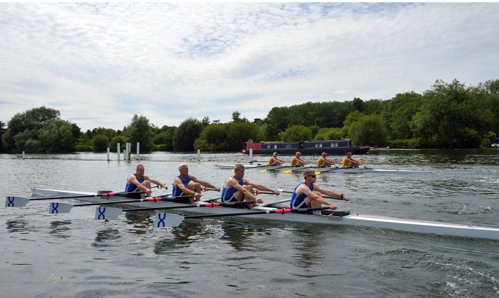 STEPHEN, LES, BRAD AND BRUCE LOOK TIDY OFF THE START AT HENLEY IN THIS NICE SHOT FROM BIG BLADE PHOTOGRAPHY.