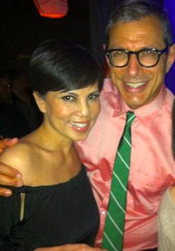 Trang Phung with Jeff Goldblum