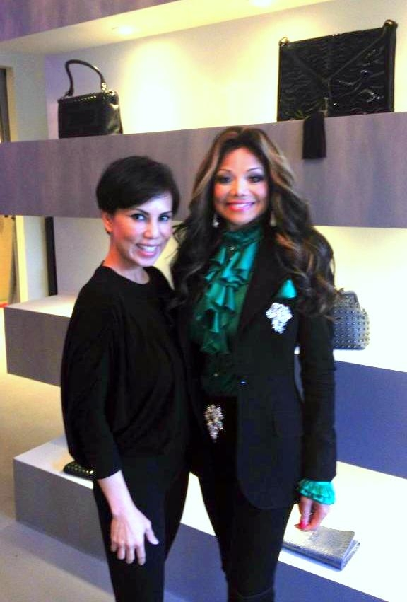Trang Phung with La Toya Jackson