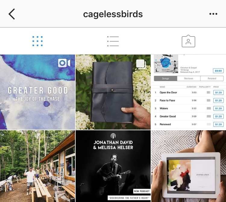 CAGELESS BIRDS - @CagelessBirds)Creative Collective / for discovering the voice of Holy Spirit & creativity in every moment