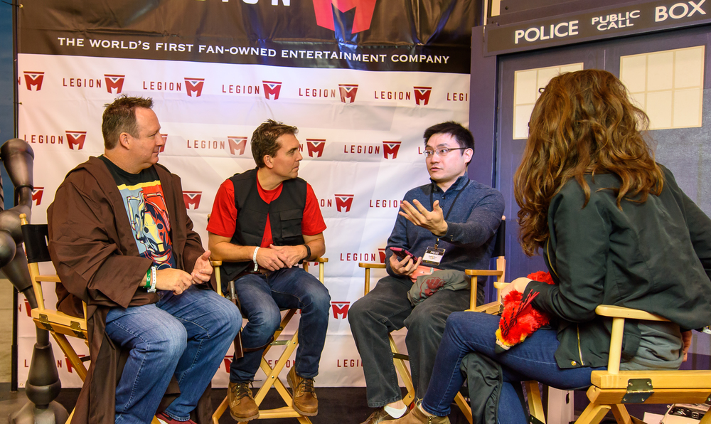 This was our launch event for Legion M, so it was exciting to share the story, and we were thrilled with the enthusiastic response.