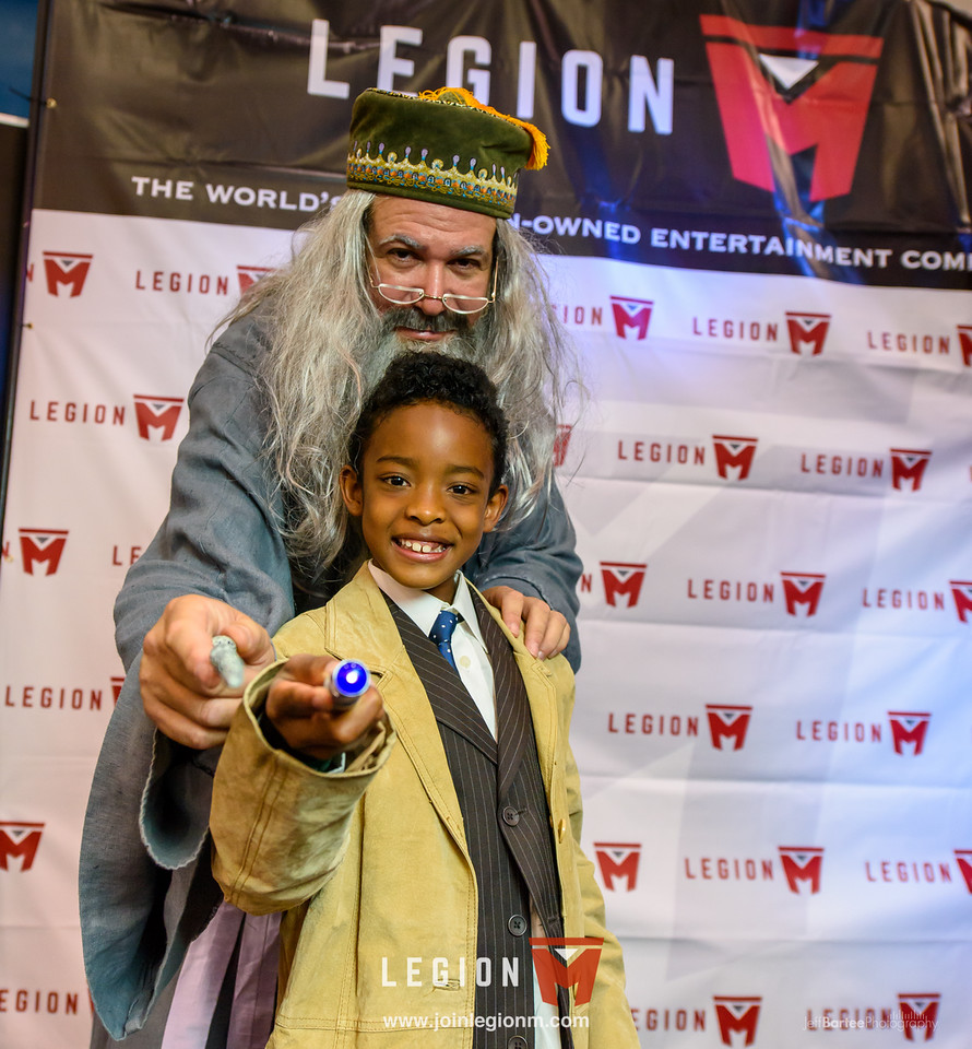 We had a special appearance in our booth by Professor Dumbledore who kept everyone, ahem, spellbound.