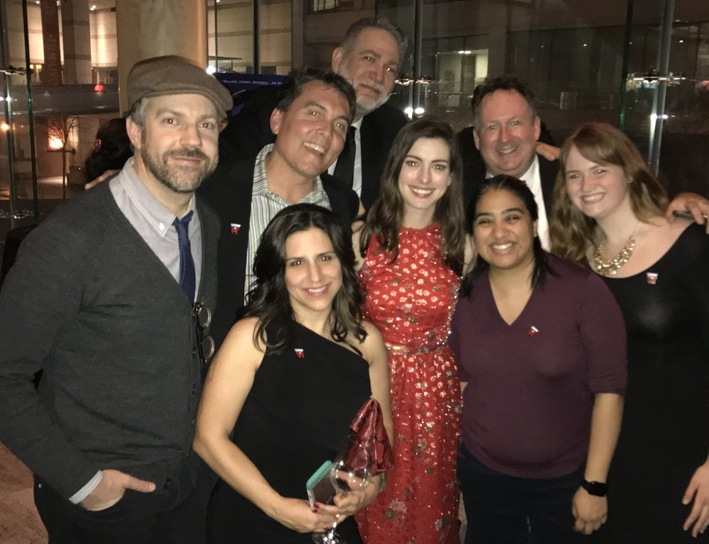 A few lucky Legion M shareholders had the chance to walk the red carpet and chat with stars Anne Hathaway and Jason Sudeikis at the New York premier of Colossal.