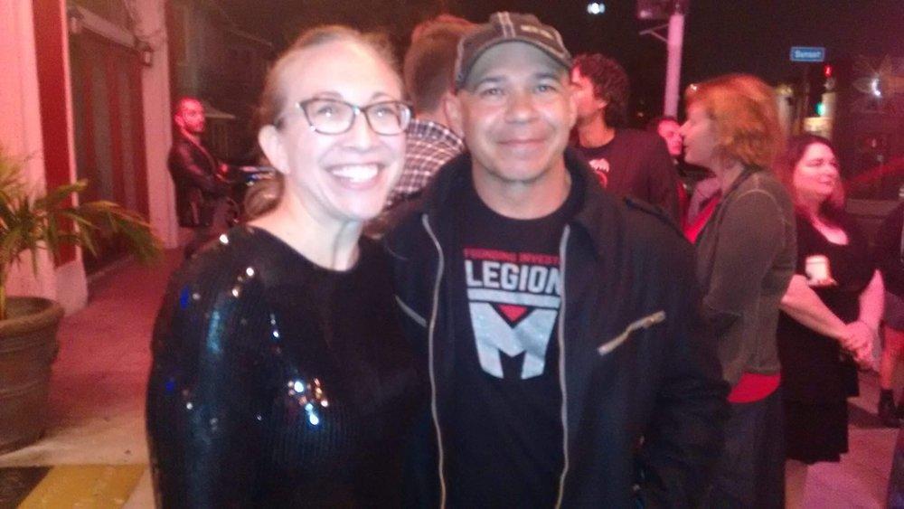 Legion M Investor Meredith Schindehette and Director/Stunt Coordinator Eddie Perez