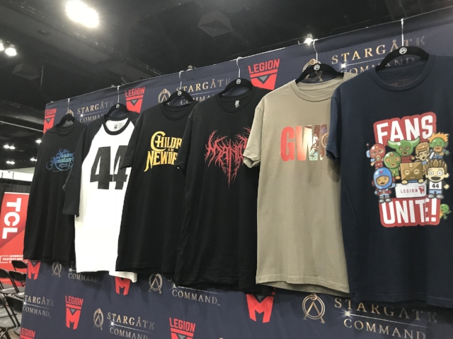 Legion M exclusive shirts for sale at LA Comic Con