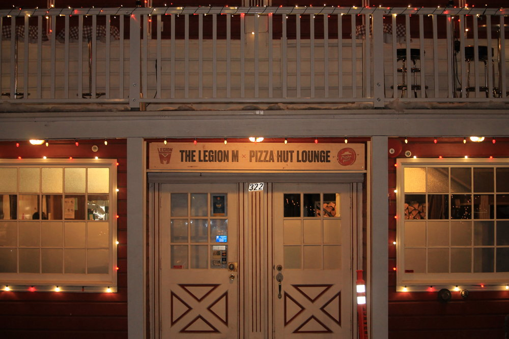 Entrance to the Legion M lounge!