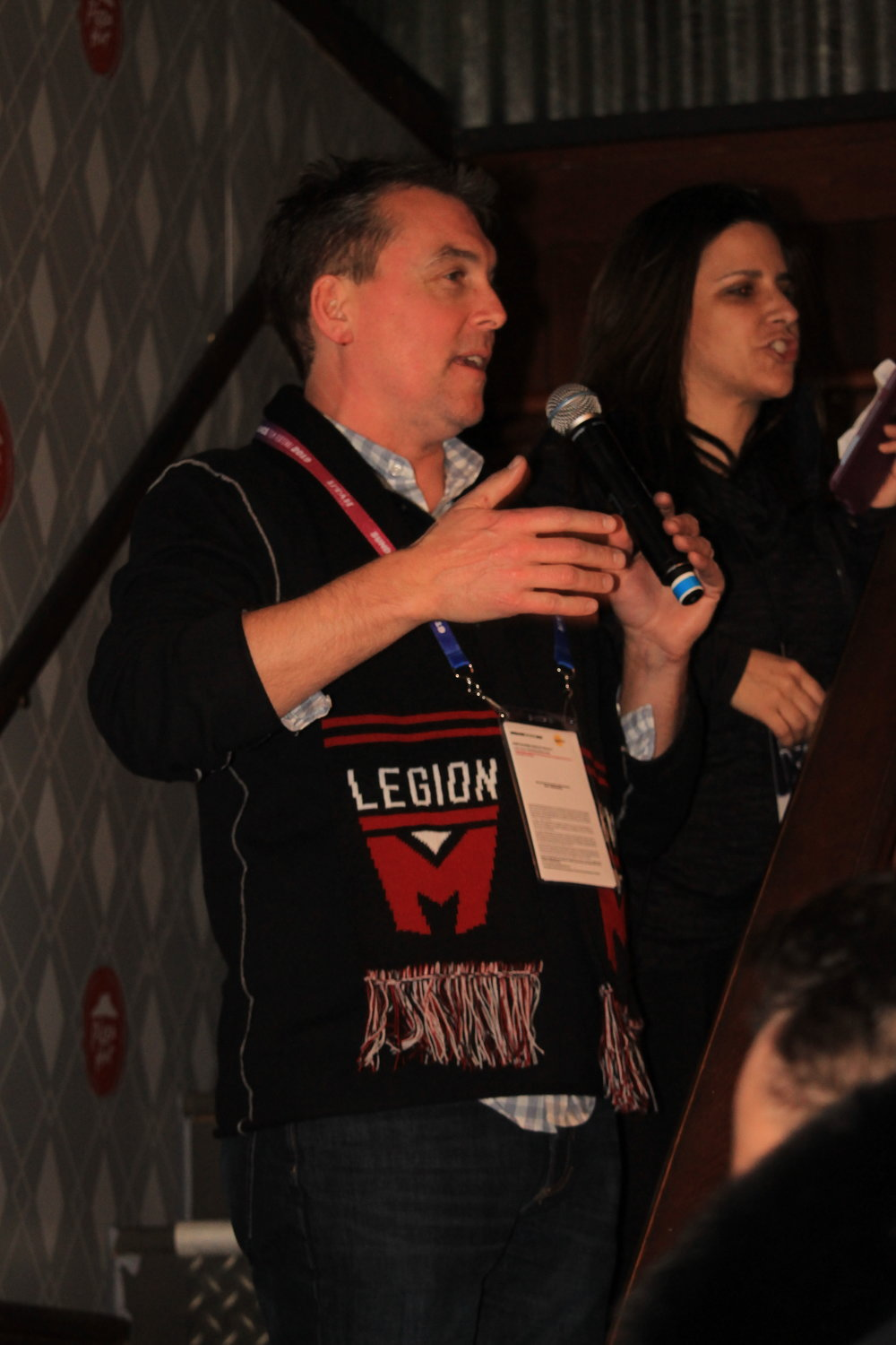 Professor Paul Scanlan teaches the class what Legion M is all about!