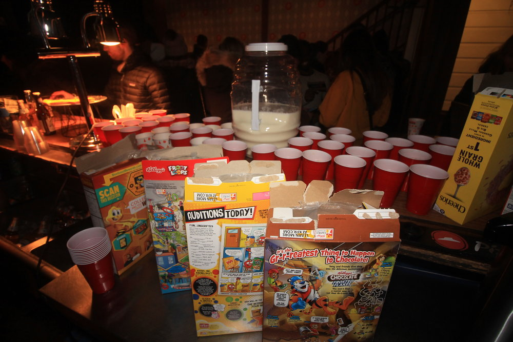 We murdered our favorite cereals with our Cereal Killer party… best idea we've ever had!