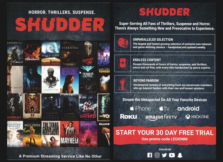 Free 30-day Trial of Shudder for Legion M! — Legion M