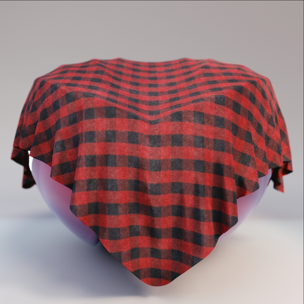 Fabric - Red Black Plaid Fabric