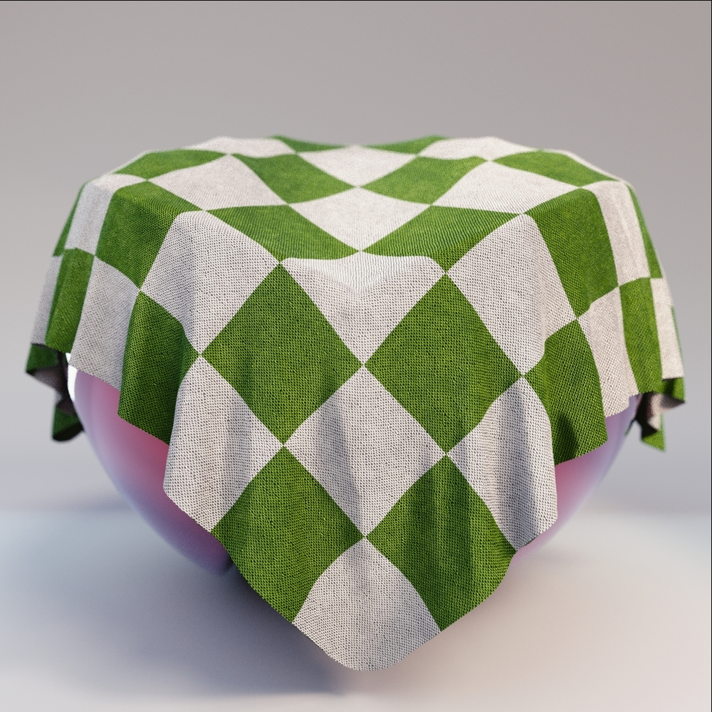 Fabric - Green Grey Checkered Fabric