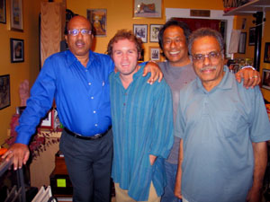 Post concert visit from Ustad Shabbir Nisar, Daniel Johnson, Prasanna Kumar and Prabhakar Rao