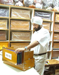 Inni Singh making final quality inspections