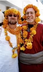 Kirtan-wallahs araati with Krishnadas - Kainchi - U.P.