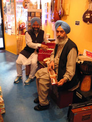 Sukhdev Singh our sarangi, esraj-technician and our friend Inderji