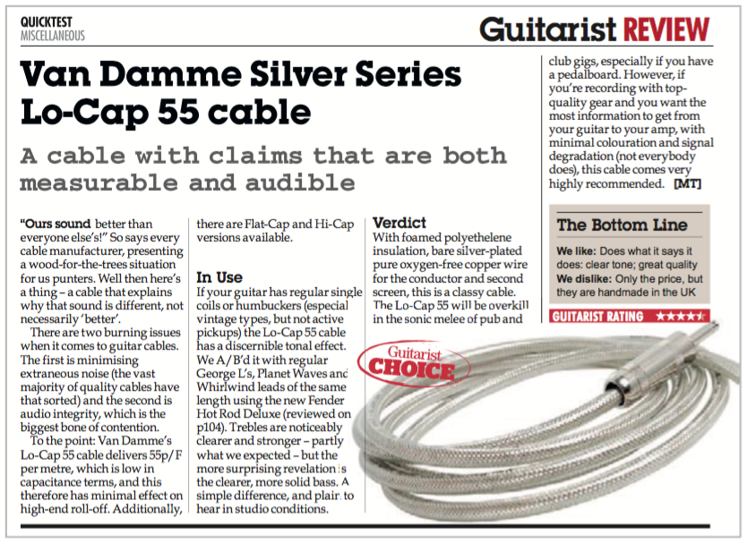 Guitarist Magazine review.