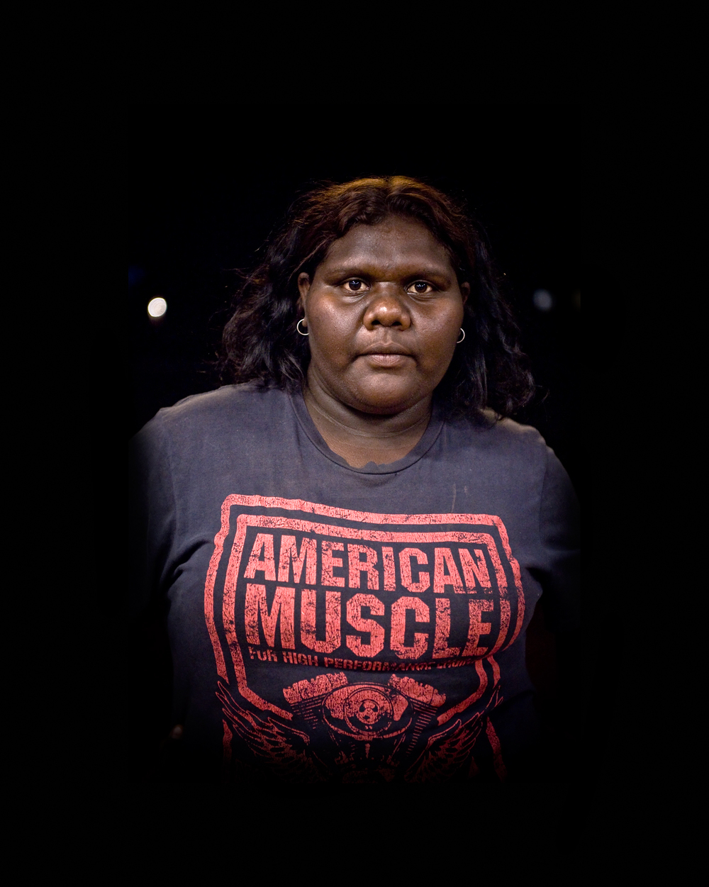 'Nyirripi Woman With American Muscle'