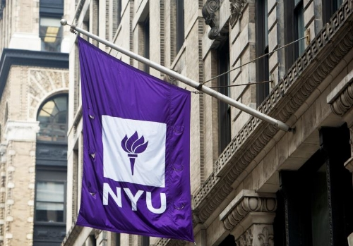 New York University banner. (photo credit:NYU PHOTO BUREAU)