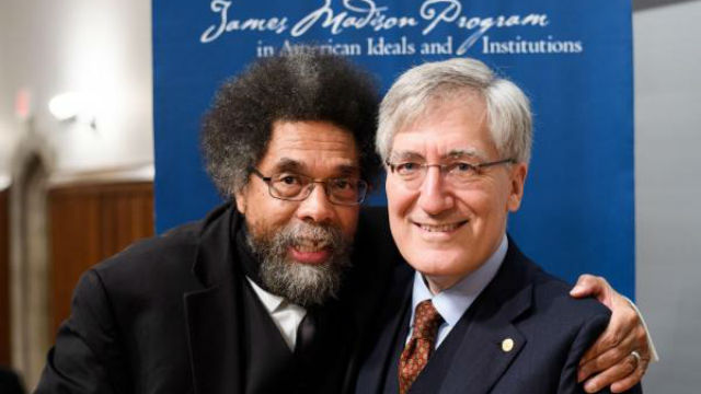 Harvard Professor Cornel West (left) and Princeton Professor Robert P. George. Photo: Princeton.