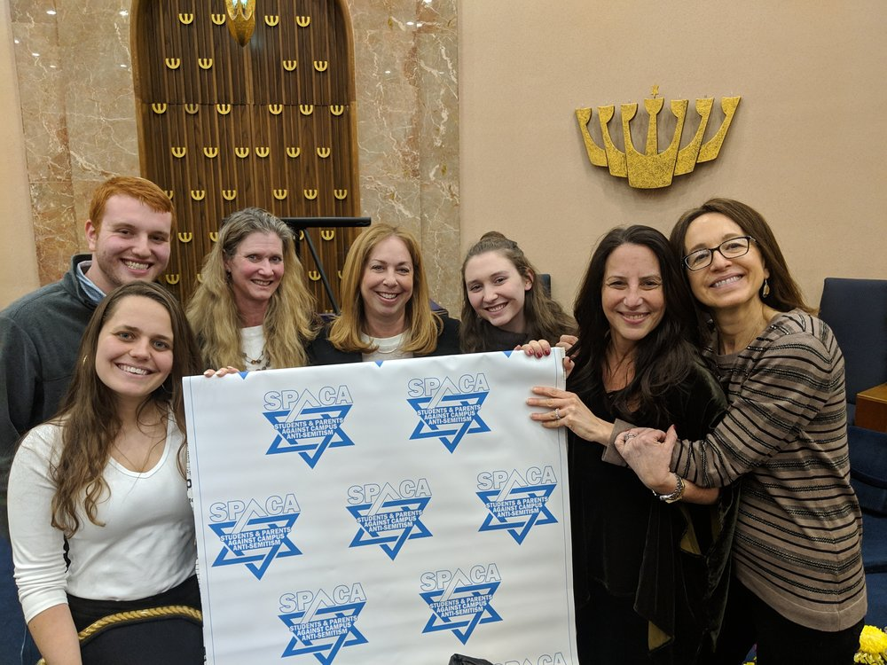 The Panelists: Ofir Dayan , Joshua Yoni Nirenberg, Dalia Zahger  SPACA President: Shoshana Bederman ( Far right)  SPACA Members: Tamar Ben-Simon , Sharon Freudenstein, Leetal Ben-Simon ( left to right)  Merrick Jewsih Center Organizer: Jodi Turk-Goldberg