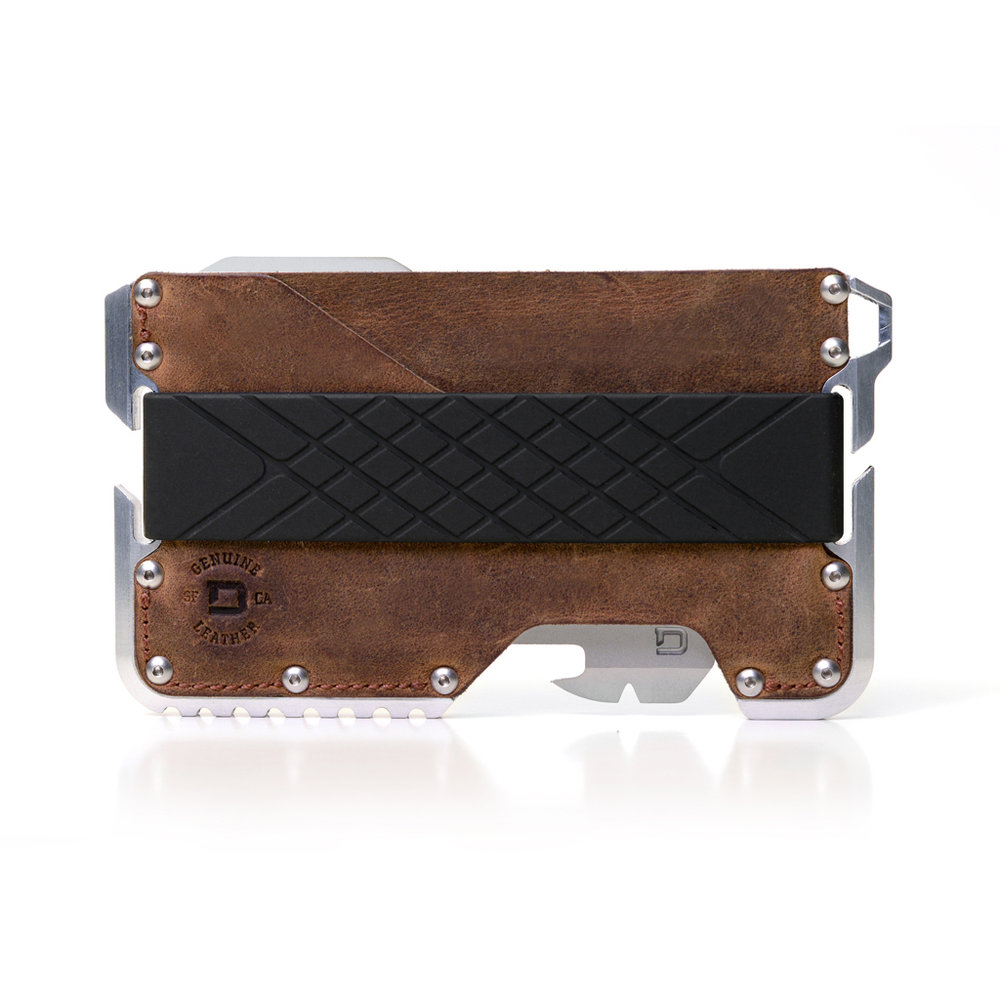 WALLETS Dango Wallets pack a punch in a small form factor. An aggressive yet sleek design made to look and feel awesome. With cnc'd metal, genuine leather & high capacity silicone, these wallets beg to be shown off.