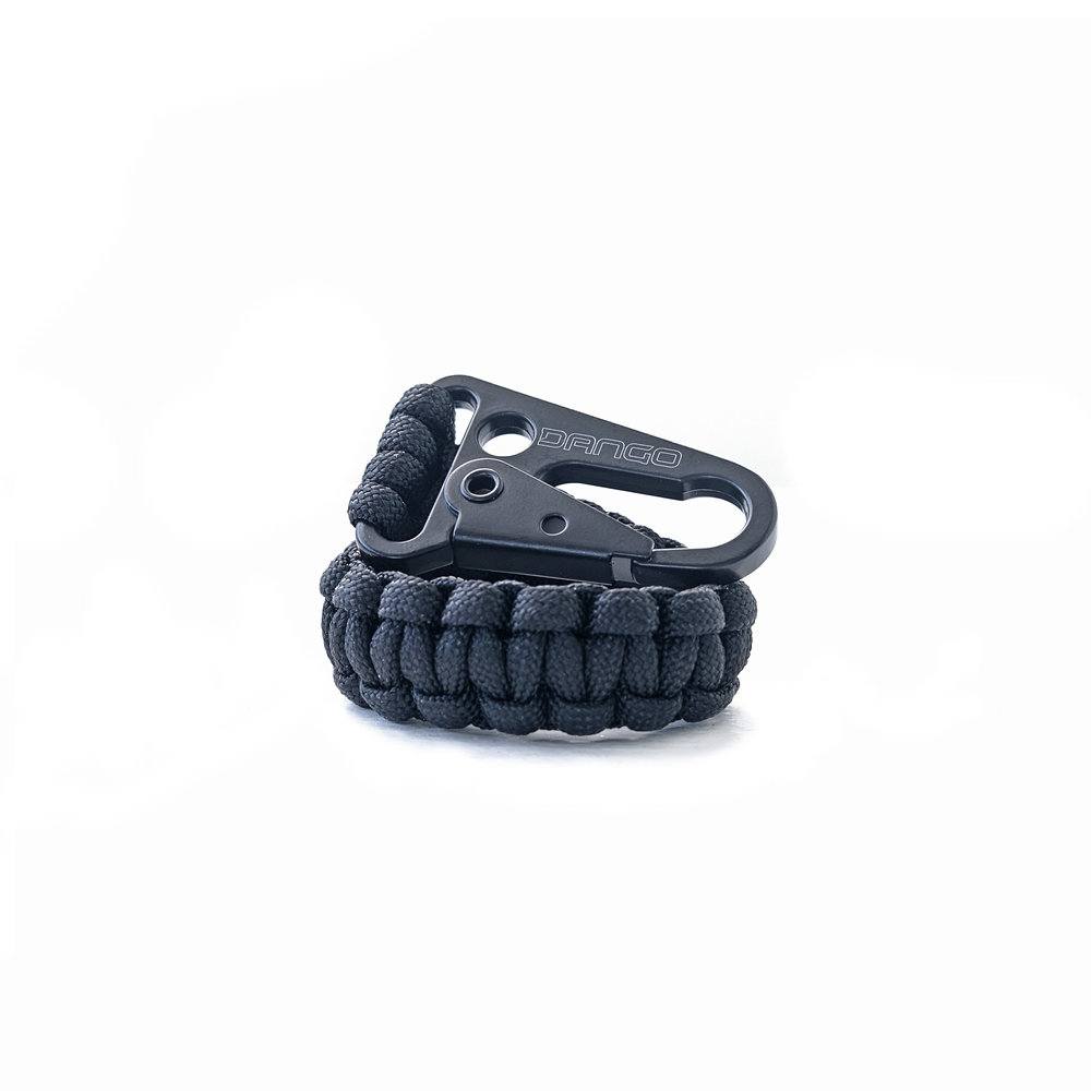 TETHER Cobra Weave 550 Paracord with Metal Clasp designed to tether and secure your gear