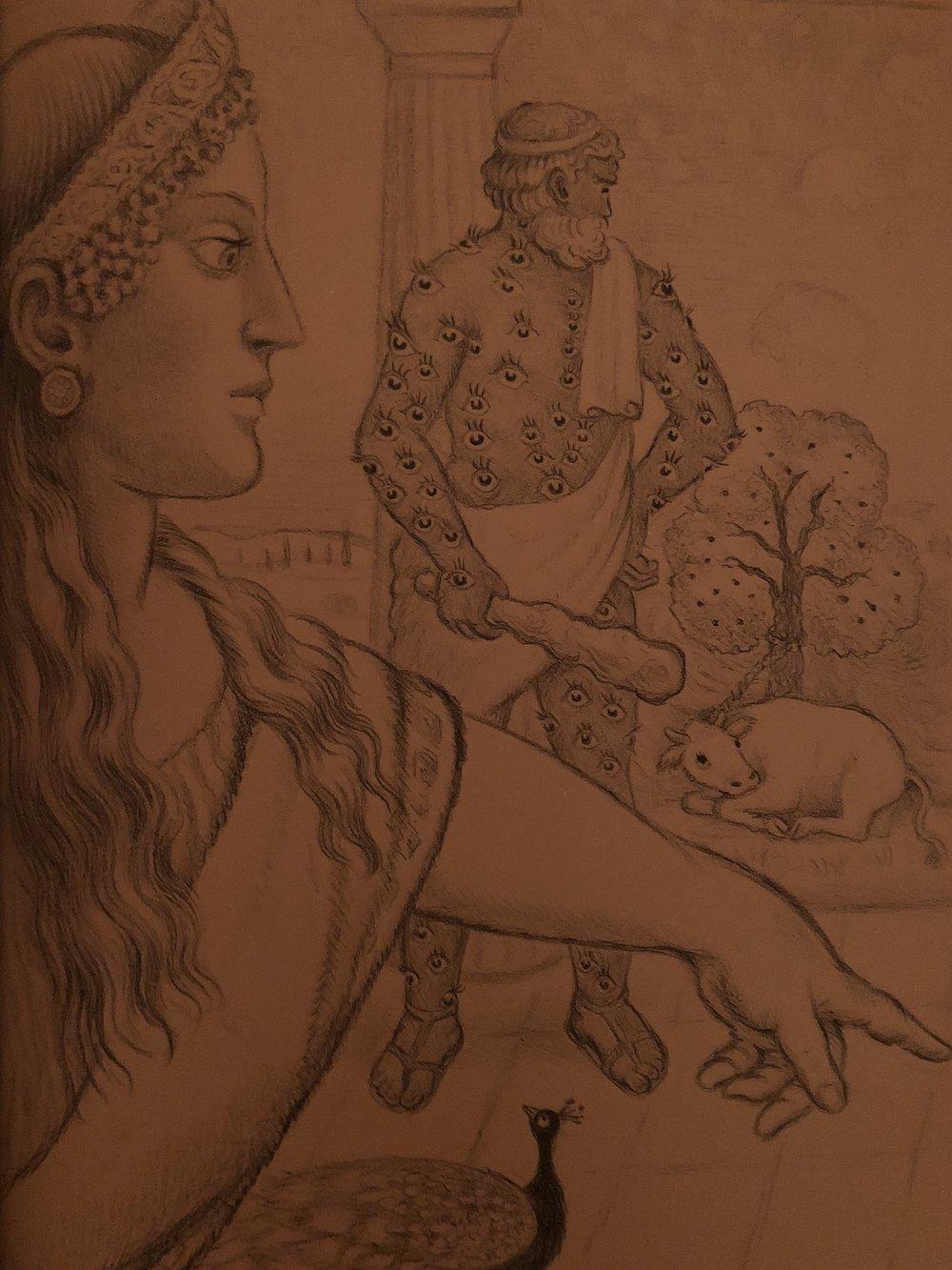 Hera, Argus , and Io.