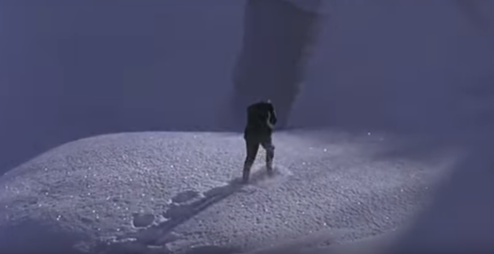 Gerald traverses the Alps, to sleep and death.