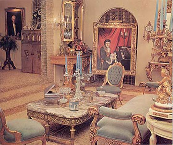 Liberace's Living Room in Hollywood.
