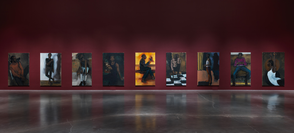"""""""Undersong For A Cipher,"""" 17 portraits by Lynette Yiadom-Boakye, New Museum, 2017."""