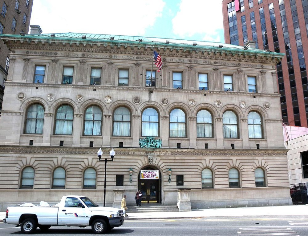 The Newark Public Library, photograph by Jim Henderson.T