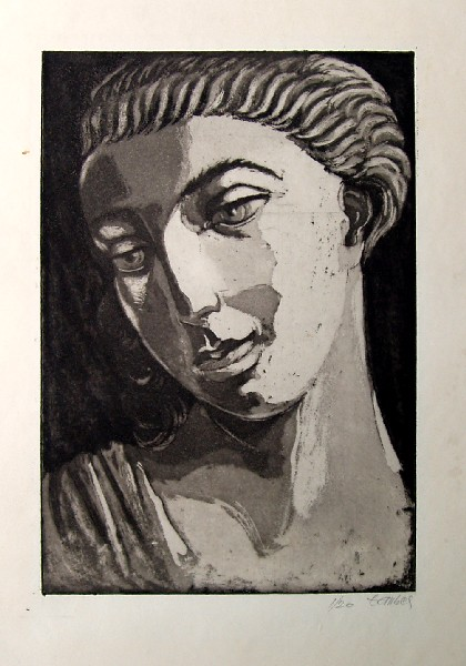"Frederic Taubes, ""Roman Head,"" 1945"