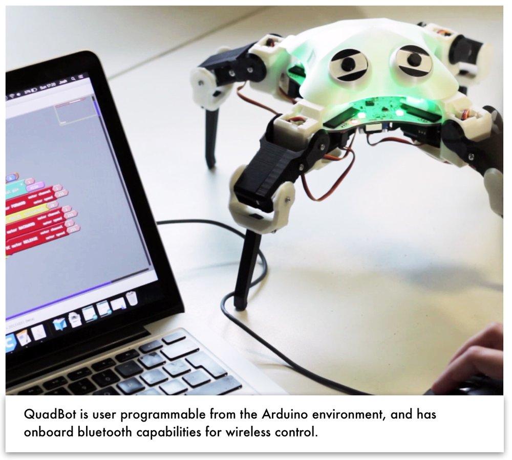 QuadBot and Computer