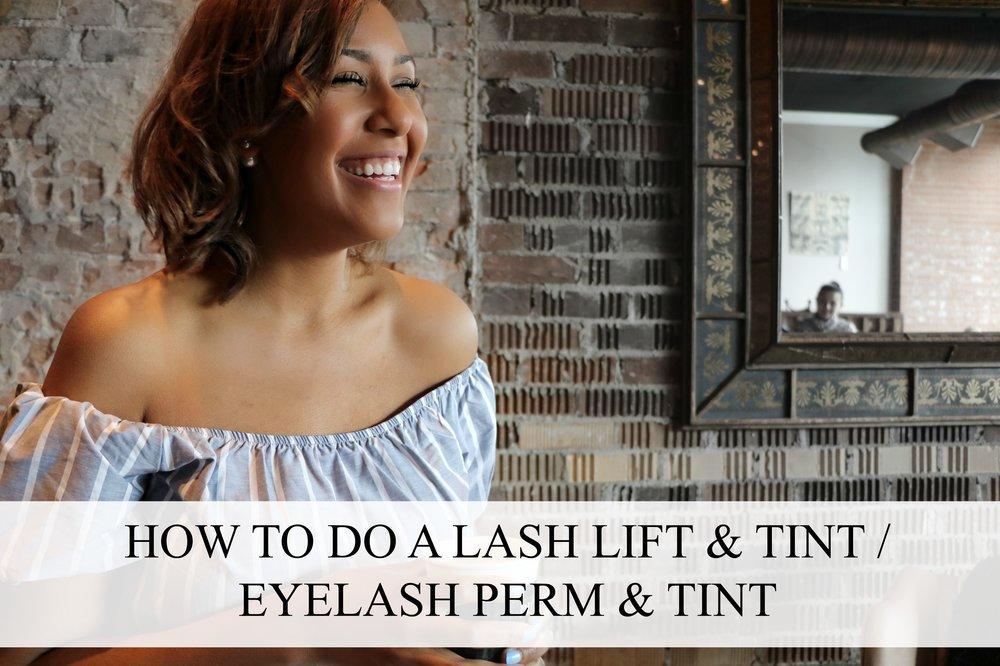 How To Do A Lash Lift Tint Eyelash Perm Tint Nicole Fiona Serrao