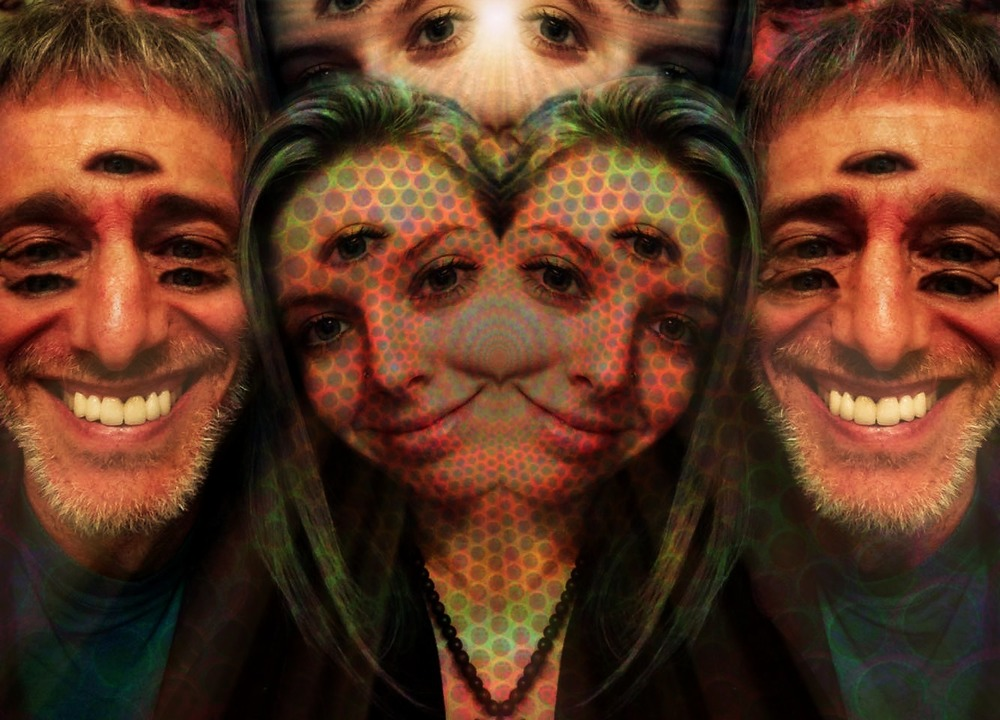 'Heightened Awareness' (Photo featuring me, and my twin-flame, David Jay Brown--taken and edited by Molly)