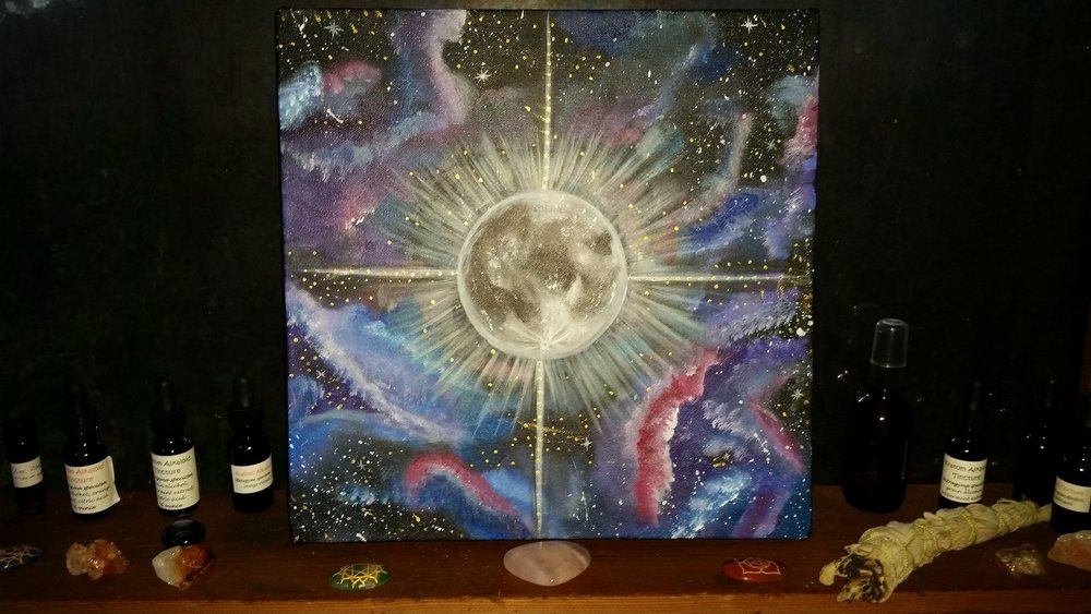 'Celestial Shine' (12x12x1.5in) ORIGINAL AVALIABLE <3