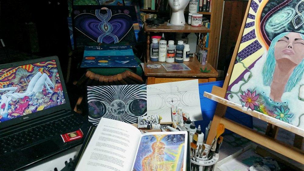 Small glimpse of the studio ;)