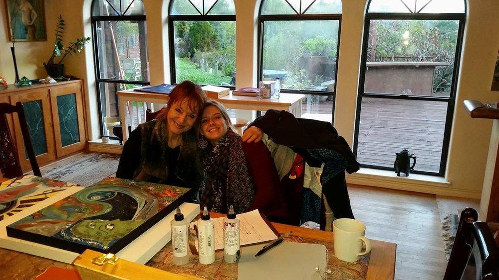 Multi-Media Artist, Penny Slinger, and I-- December 2015-