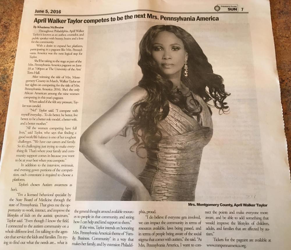 Mrs. Montgomery County 2016 Makes Headlines!