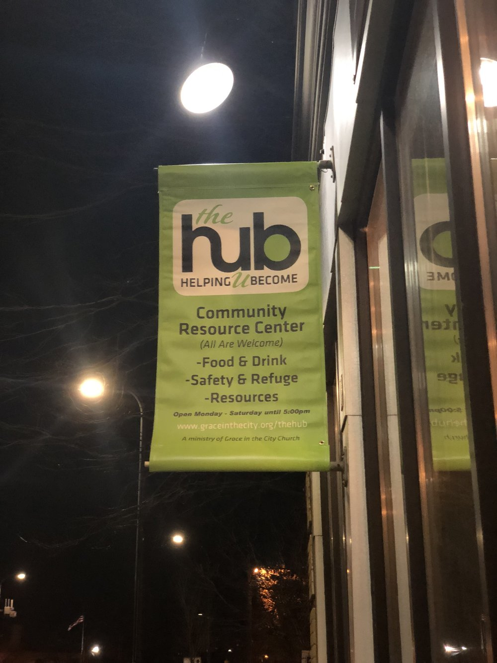 "The Hub ""Community Outreach Center,"" owned and operated by Grace in the City Church"