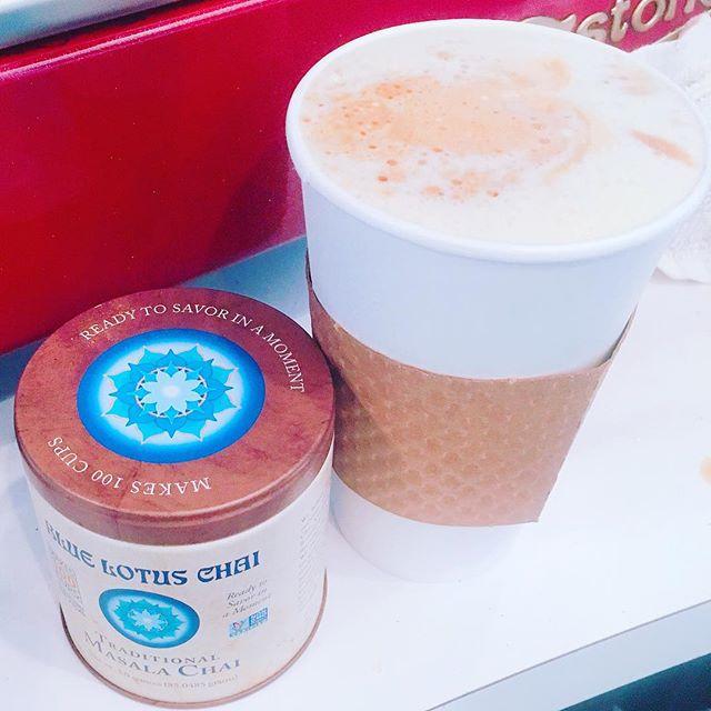 Dirty Chai Tea Latte. @bluelotuschai @bridge_span_14 #dirtychai