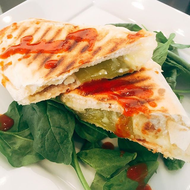 Vegetarian Green Chile Burrito @bridge_span_14