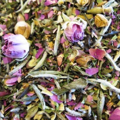 Excited to be adding Wild Rose Melange to our whole leaf tea collection @bridge_span_14 #whitetea #wildrose #wholeleaftea