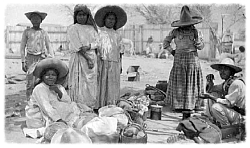 Soldiers and families during the Mexican Revolution created temporary home places that followed battles throughout the countryside.