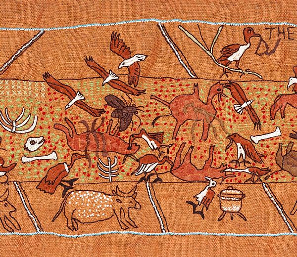 The Keiskamma Tapestry, Cattle-Killing Panel, Detail 3. Copyright Robert Hofmeyr.