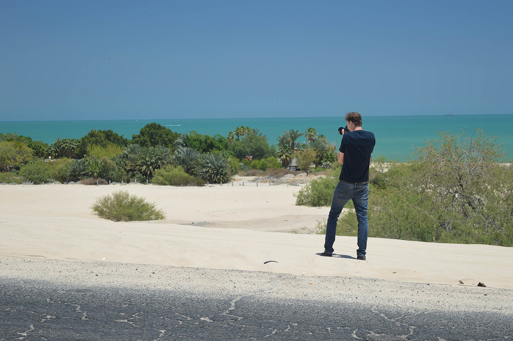 The director stopping to take a few shots of the scenery.